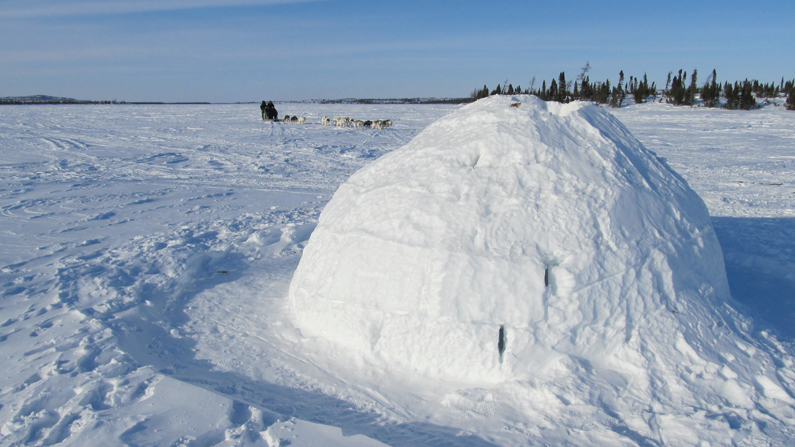 This image has an empty alt attribute; its file name is Igloo.jpg